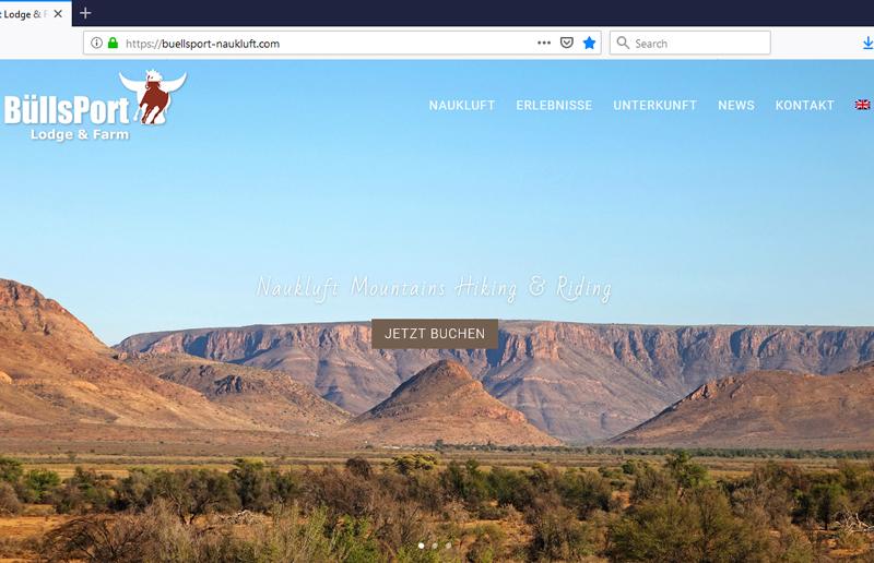 BüllsPort Website Screenshot