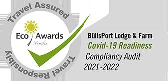 Corona-Zertifikat BüllsPort Eco Awards Namibia